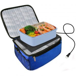 TALC Personal Portable and Adjustable Oven Heating Lunch Box Food Warmer (Blue)