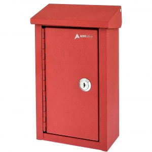 10. AdirOffice Outdoor Heavy-Duty Large Key Drop Box for Home and Business Use