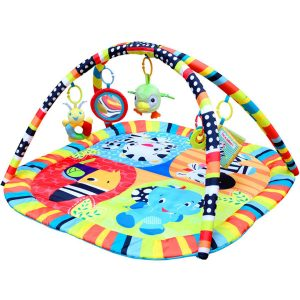 TAPCET 35.43 X 35.43 Inches 5 Hanging Toys Activity Play Mat
