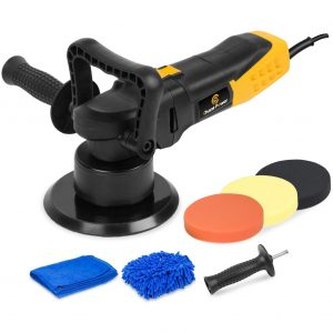 C P CHANTPOWER 6 Inch Dual Action Polisher with Detachable Handles, Variable Speed