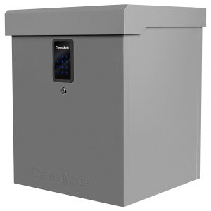 4. CleverMade S100 Series Parcel LockBox Delivery Box, Grey