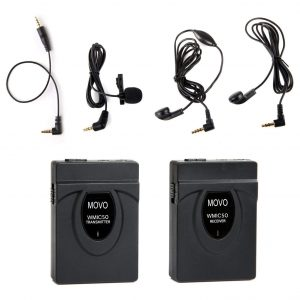 Movo Wireless Lavalier Mic System with an Integrated Antenna