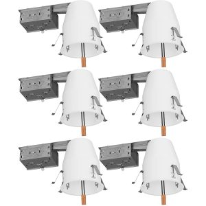 4. Sunco Lighting 4 inch 6 Pack of Remodel LED Recessed Lighting- Title 24 Certified and UL Listed