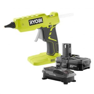 5. Ryobi Full-Size Glue Gun Kit with 18-Volt Lithium-Ion Battery and Charger