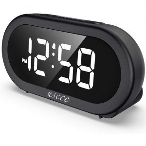 USCCE Small LED Digital Alarm Clock with a Snooze Function