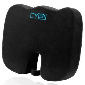 CYLEN Memory Foam Ventilated Seat Cushion (Black)