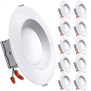 7. Freelicht 10 Pack Dimmable 5.6 Inch 1200 LM Slim LED Downlight