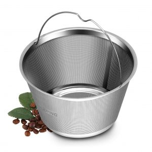 RUOYING 4-5 Cups Reusable Permanent Basket Coffee Filter