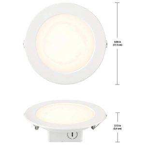 9. Kangyi 12W 6 inch LED Recessed Ceiling Light, Energy Star, and ETL Certified