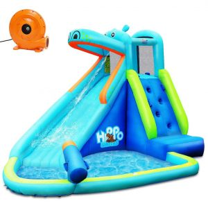 AchieveUSA Hippo Water Slide Inflatable Bounce House