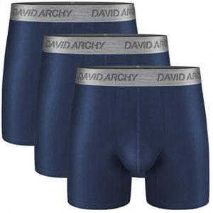 David Archy 3 Pack Men's Breathable Boxer Briefs