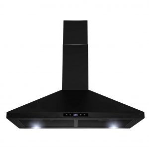 1. Golden Vantage Stainless Steel Wall Mount Kitchen Range Hood, Black Painted (30 in.)