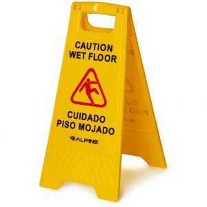 Alpine Industries Caution Wet Floor Sign