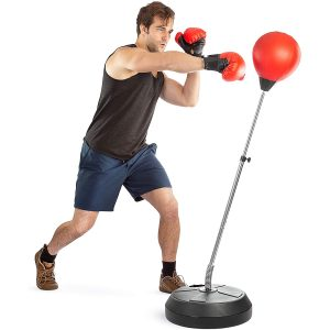 Tech Tools Reflex Freestanding Punching Bag with Stand for Fitness and MMA Training