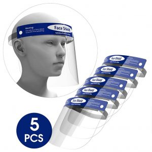 Rush Deer 5-Pack Face Shield with an Elastic Band