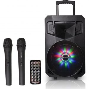 Ritz Camera Portable Bluetooth 2 Free Mics 8 inches Subwoofer