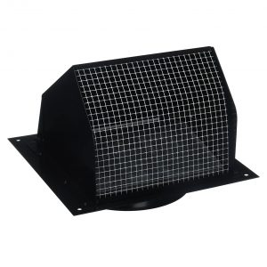 4 Nutone Broan 843BL 6 inches round duct Wall Cap Black