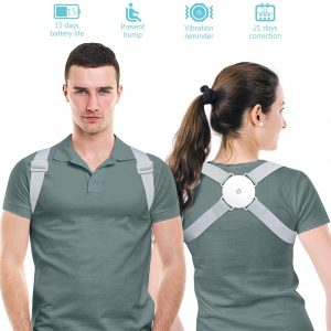 Meamae Posture Corrector, Improves Posture & Provides Back Support (Gray)
