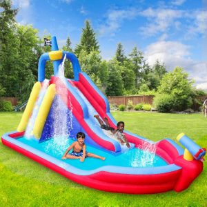 RETRO JUMP Inflatable Bouncy Water Slide for Kids