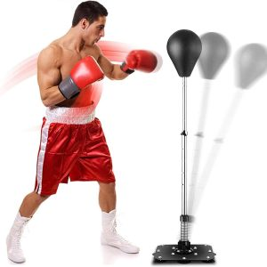 Shaofu Freestanding Adjustable Height Boxing Punching Bag for Adults Kids