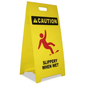 8 Net Inc Caution wet Floor Sign