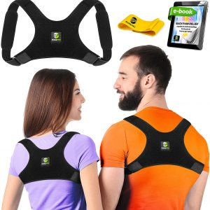 Evoke Pro Back Posture Corrector - Comes with a Resistance Band (Regular)