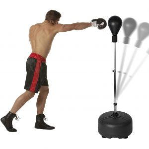 Vilobos Punching Bag Kids and Adult Reflex Boxing Bag with Freestanding Stand- Black