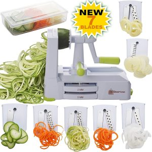 Brieftons 7 Strongest-and-Heaviest Duty Vegetable Spiral Slicer
