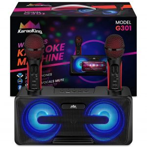 KaraoKing Machine Karaoke 2 Wireless Microphones