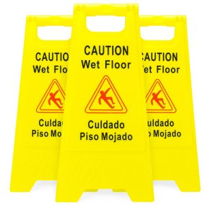 Bolthead Industrial Caution Wet Floor Sign