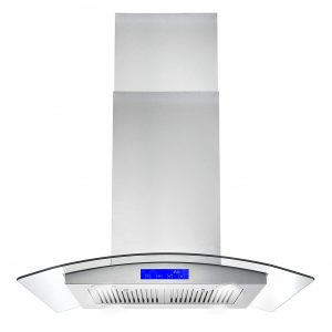 7. Cosmo 30-in COS-668ICS750 Island Range Hood with Light (Stainless Steel)