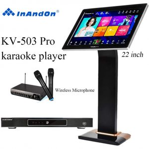 Inandon Pro Karaoke Player Intelligent Voice Machine 22 inches Touch Screen