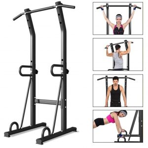 Mosunx Power Tower for Strength Training (Adjustable, Black)