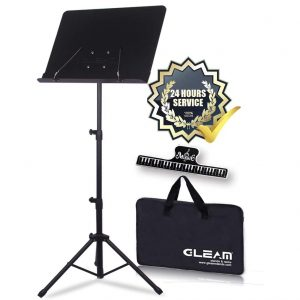 GLEAM Sheet Metal Music Stand with Carrying Bag