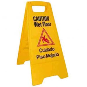 8. Winco Caution Sign