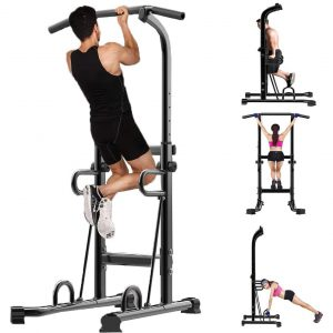 Ziloco Power Tower, Exercise Workout Rack (Black)
