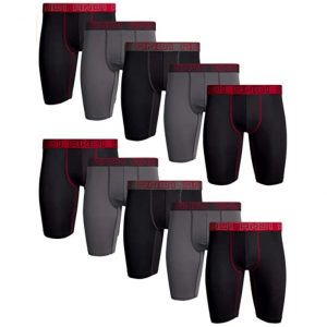 AND1 Men's Compression Boxer Briefs 10 Pack