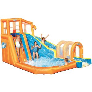 Bestway Hurricane Tunnel Blast Play Center Inflatable Water Park for Kids