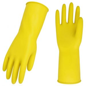 Vgo 10-Pairs Reusable Extra Thickness Household Gloves (Yellow, HH4601)