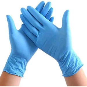 Enjoyee 100 Pcs Latex Free PVC Free Disposable Gloves Non-Sterile Blue Rubber Gloves