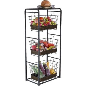 Home Intuition 3-Tier Kitchen Storage Rack for Fruit