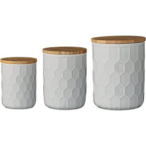 Bloomingville A21700007 Set of 3 Mint Green Canisters