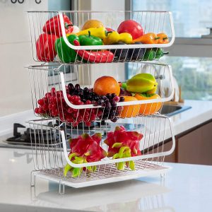 TOLEAD 3 Tier Kitchen Storage Rack for Fruit