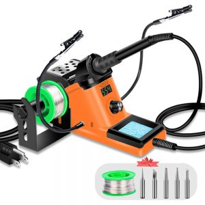 LONOVE Adjustable Temperature Soldering Station Kit