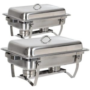 TMS Rectangular Stainless Steel Chafing Dish