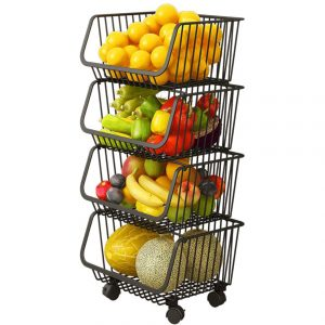 Haturi 4 Tiers Kitchen Storage Rack