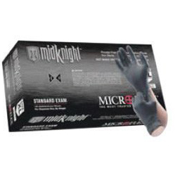 BarrierSafe Solutions Inter. Microflex MK-296-L Large Black Non-Sterile Disposable Gloves