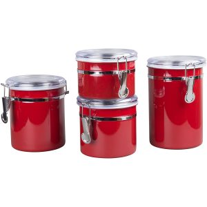 Creative Home 4-Pieces Stainless Steel Canister
