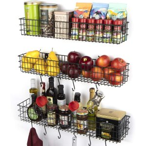 Wall35 Kansas Kitchen Storage Pantry Rack for Fruit