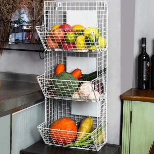X-cosrack 3 Tier Wall Kitchen Storage Rack